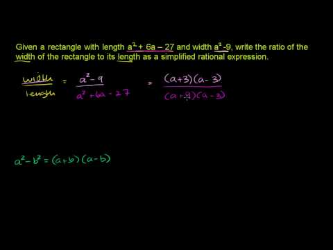 Simplifying Rational Expressions 1