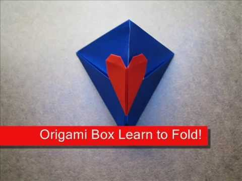 How to Fold Origami Triangle Box with Heart Lock - OrigamiInstruction.com