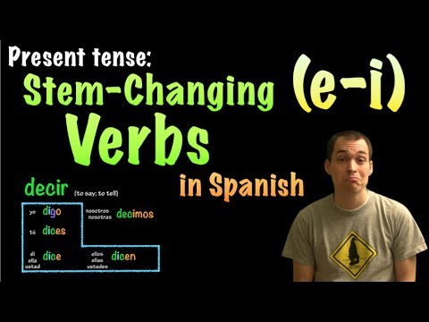 01067 Spanish Lesson - Present Tense - E-I Stem-changing verbs