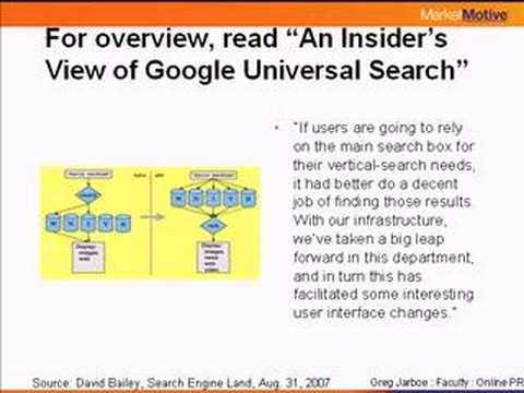 Universal Search - Getting Found in All the Right Places