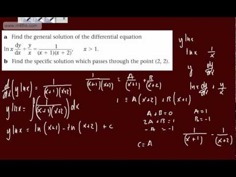 (2) FP2 - First Order Differential equations (Specific solution to an exact equation) Further Pure