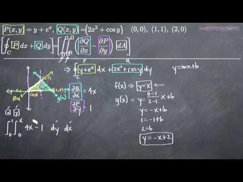 Green's Theorem Two Regions