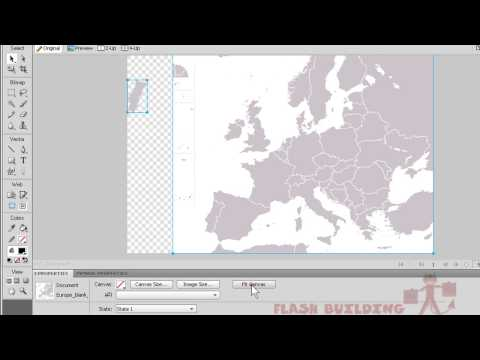 Flash + Fireworks CS4 Tutorial [HQ] - Interactive Map Button Menu Interface
