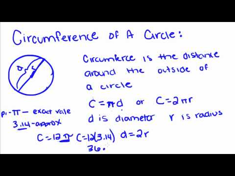 Introduction to Geometry - 55 - Circumference of a Circle