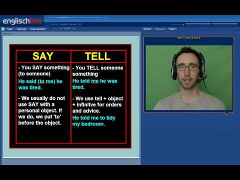 Verbs in English | The Difference between Say and Tell