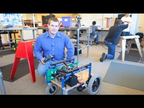 Max Heald's Wheelchair Robot on Make: Live ep15