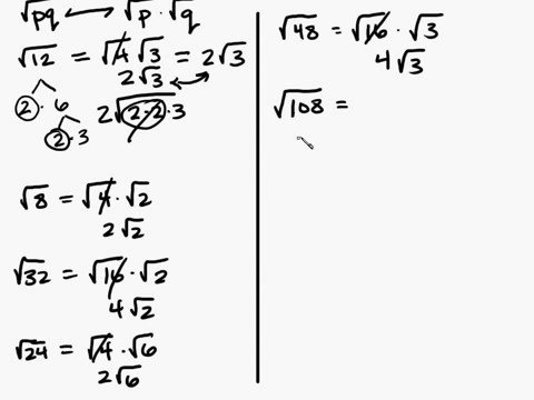Algebra - Radicals Multiplying Part 1 Intuitive Math Help Simplifying Radical Expressions  Square Roots