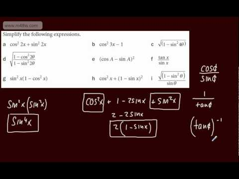 (13) Trigonometry Core 2 - Identities intro and examples