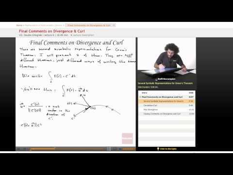Multivariable Calculus: Divergence & Curl, Part 3