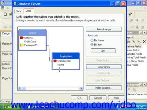 Crystal Reports Tutorial Linking Multiple Tables Business Objects Training Lesson 4.2