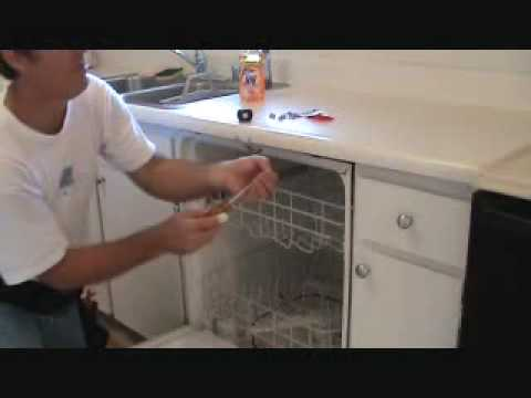 "How to secure a ""loose"" dishwasher"