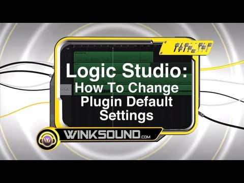 Logic Pro: How To Change Plugin Default Settings | WinkSound
