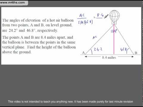 (Q303) A Star GCSE Revision Application of Sine Rule