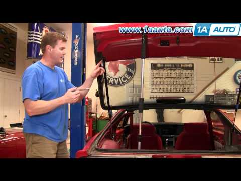 How To Install replace Rear Hatch Support Lift Struts 82-92 Chevy Camaro Pontiac Firebird 1AAuto.com
