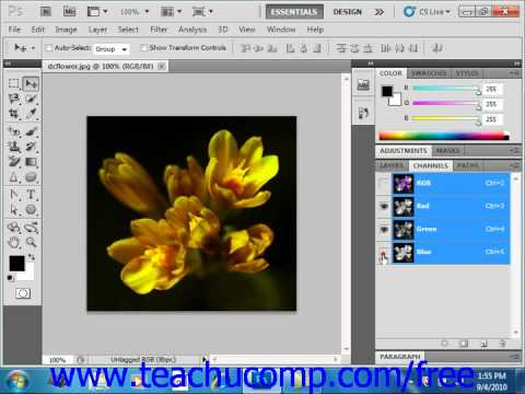 Photoshop CS5 Tutorial Using the Channels Panel Adobe Training Lesson 13.1