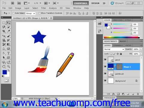 Photoshop CS5 Tutorial Raster vs. Vector Adobe Training Lesson 12.1
