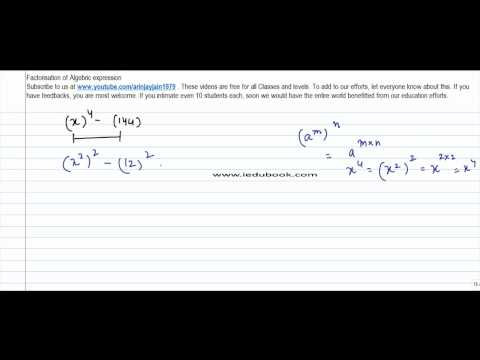 340.Class VIII -Factorisation of Algebric expression using identity (a square -b square) - Problem 1
