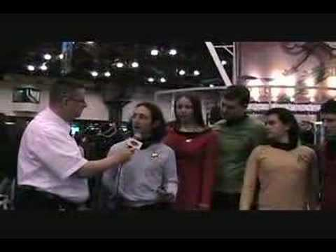 Geek Squad at New York Comic Con 2008 - Star Fleet Officers