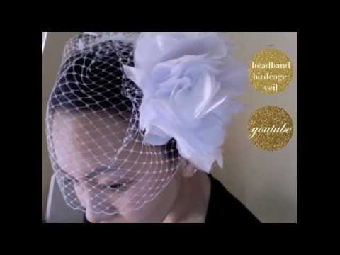 {CHRISTINE} How to make a single comb Birdcage Wedding Veil