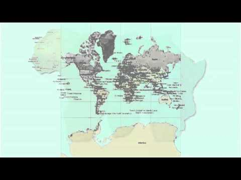 Map Projections and GIS in One Minute