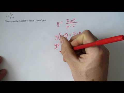 (16) A star GCSE revision rearranging formula changing subject.MP4