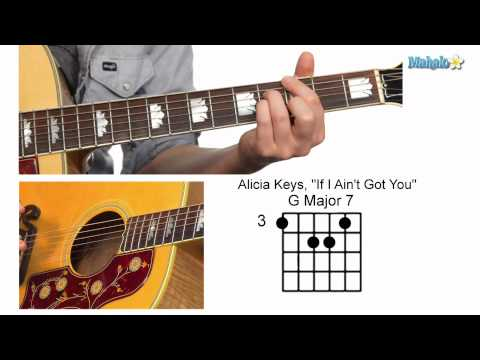 "How to Play ""If I Ain't Got You"" Chorus by Alicia Keys on Guitar"