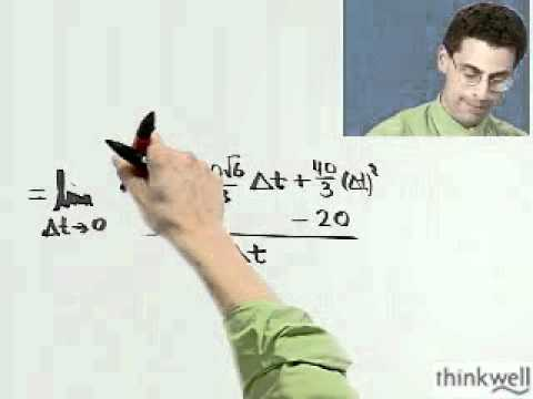Finding Instantaneous Velocity, Part 3 of 3, from Thinkwell's Calculus Video Course