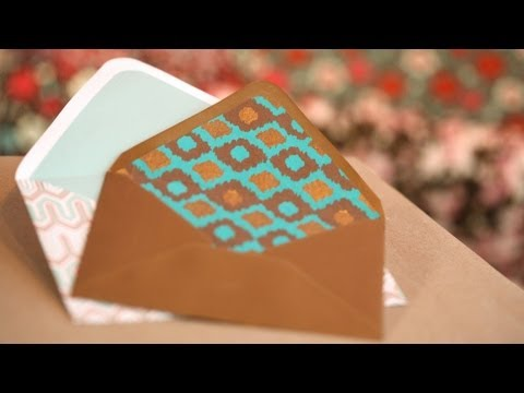 DIY Paper Envelopes and Liners: How to Make || KIN DIY