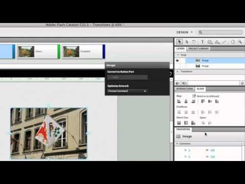 Flash Catalyst CS5.5 - Adding Transitions Between States