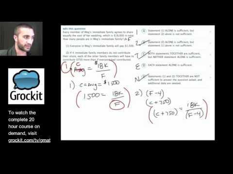 Grockit GMAT TV Lesson 2, Part 5 (Quantitative Data Sufficiency)