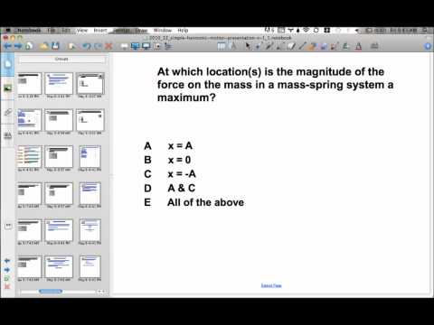 Simple Harmonic Motion Presentation #15