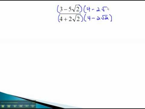 Rationalize Denominators - Binomial Denominators