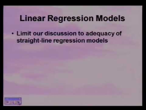 Adequacy of Regression Models: Introduction