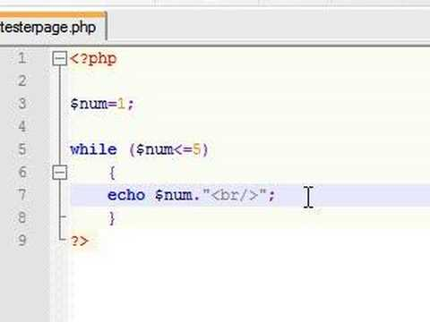 PHP Tutorial - 7 - While Loop