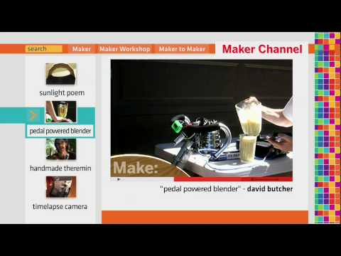 Maker Channel Ep. 10 - Sunlight poem, Pedal-powered blender,