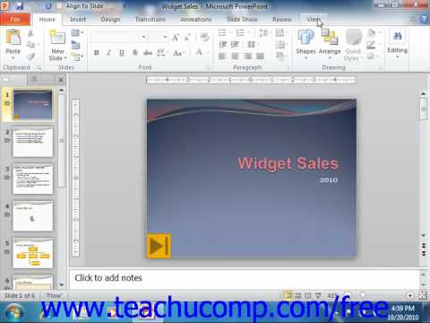 PowerPoint 2010 Tutorial The Presentation View Buttons Microsoft Training Lesson 1.9