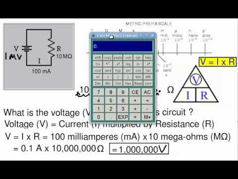Ohm's Law Calculations for Simple Circuits
