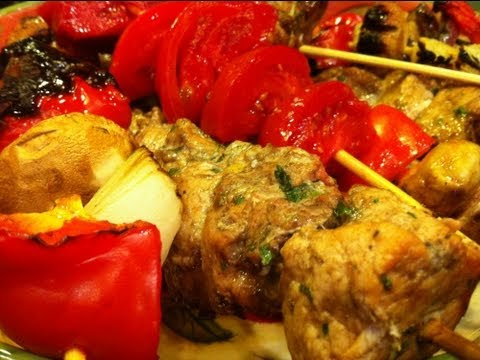Pork Kabobs - Marinated in Balsamic Vinegar - Delicious