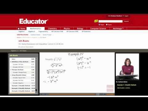 Algebra 2: nth Roots