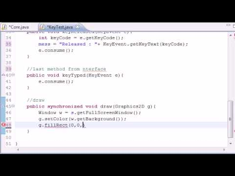 Java Game Development - 30 -  Final Keyboard Input