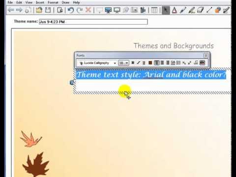 Creating and Applying Themes