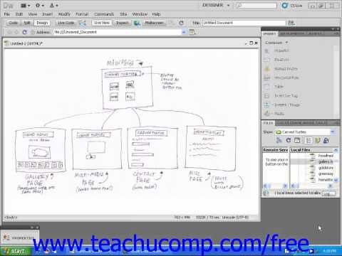 Dreamweaver CS5 Tutorial About New Websites Adobe Training Lesson 2.1