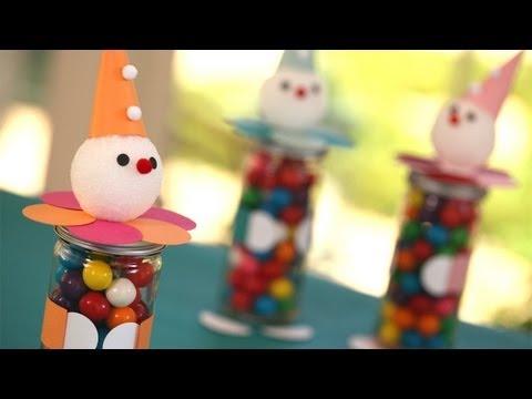 Clown Favor Jars: How to Make    KIN PARENTS