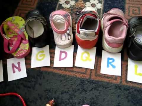 Toddler-Reading. Alphabet shoes game