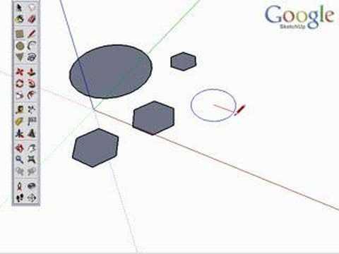 Google SketchUp Toolbar Series: Circle/ Polygon