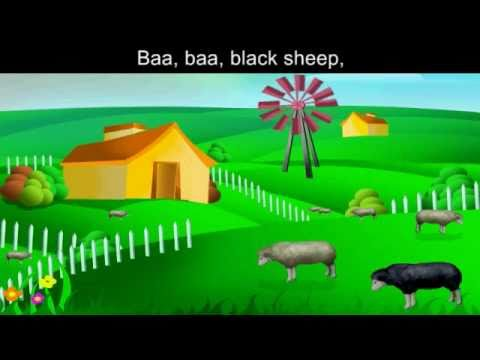 Baa Baa Black Sheep with Lyrics and sing along option