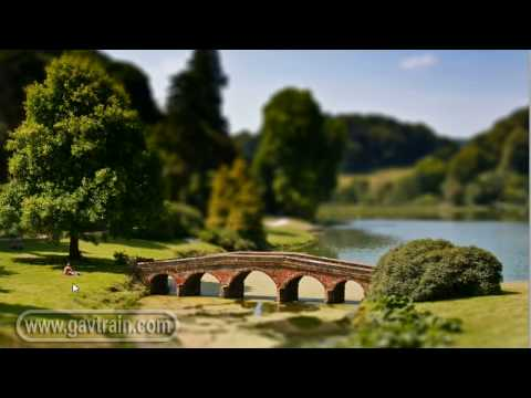 (HD) Fake miniature model, tilt & shift lens effect - Photoshop Week 36
