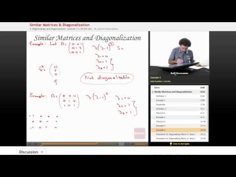 Linear Algebra: Similar Matrices