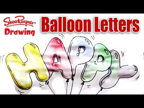 How to draw and paint  Balloon Letters