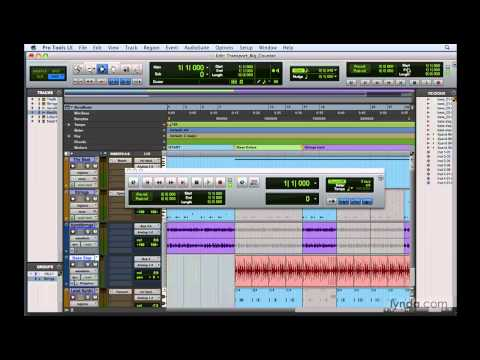 Pro Tools: Exploring the Transport and Big Counter windows | lynda.com